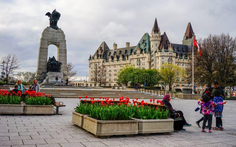 Old buildings in Ottawa, Canada stock photo