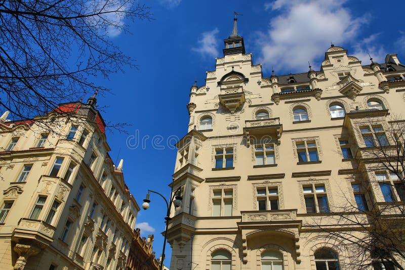 Old Buildings, Paris Street, Prague, Czech Republic royalty free stock photos