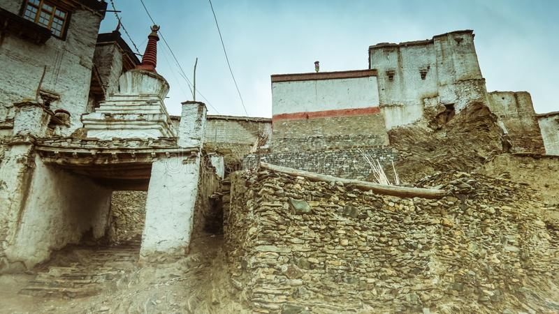 The old village Lamayuru royalty free stock photography