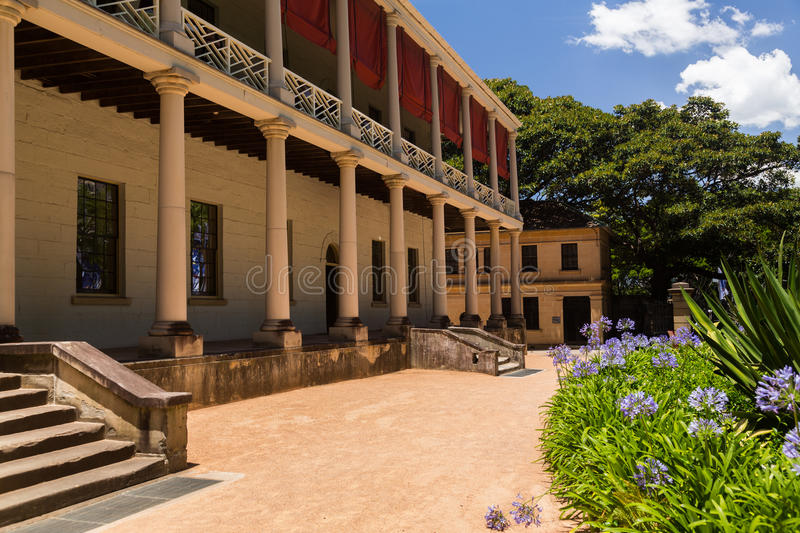 Old buildings of Sydney Mint. The Sydney Mint in Australia is the oldest public building in the Central Business District. Built between 1811 and 1816 as the royalty free stock image
