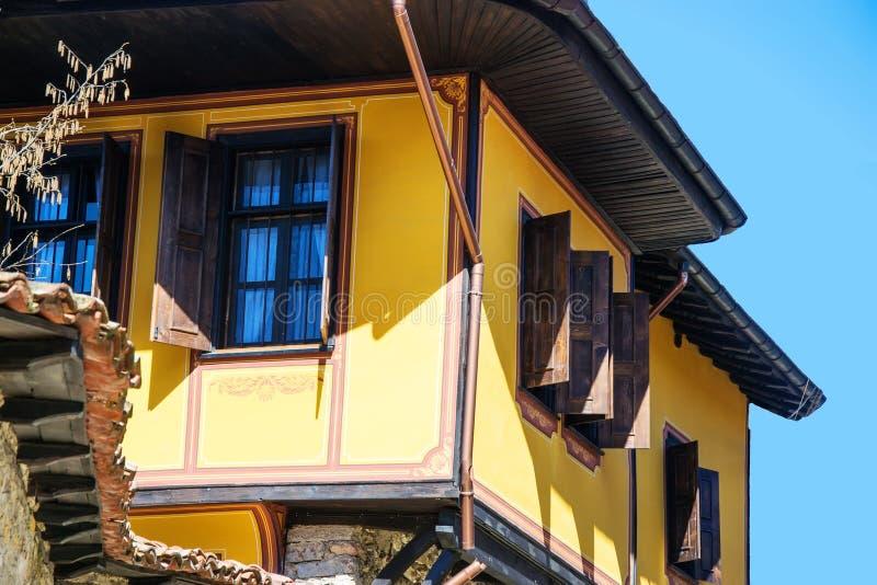 Old bulgarian house in ethnographic village Koprivshtitsa royalty free stock photography