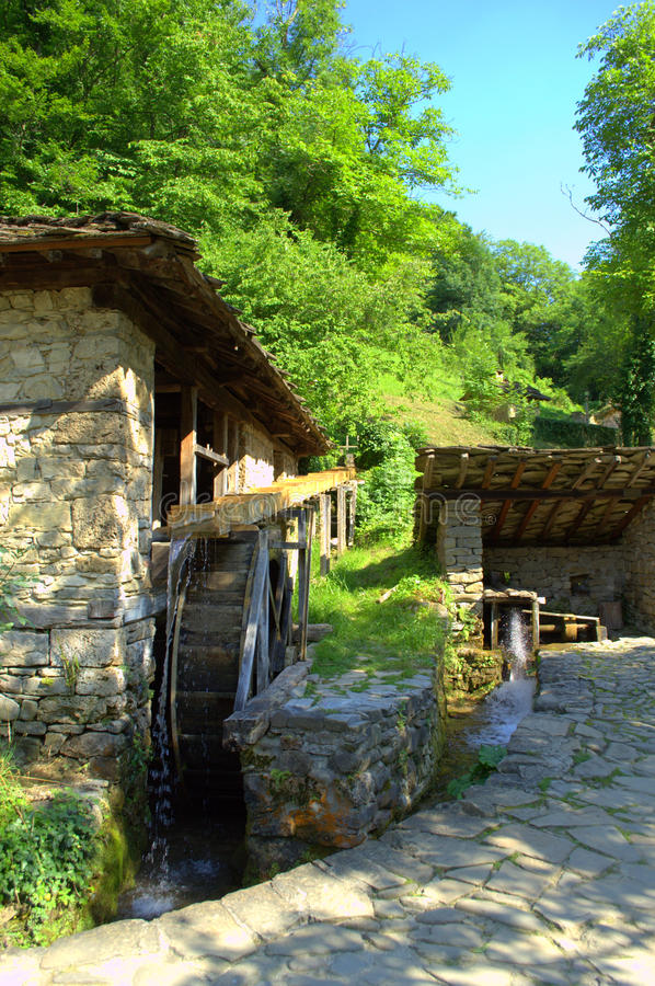 Old Bulgarian watter mills -Etar,Bulgaria. Old stone houses water mills in Etar.The Architectural And Ethnographic Complex Etar is an open air museum aims to stock photos