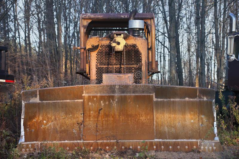 Old bulldozer. Seen abandoned in the forest royalty free stock photos