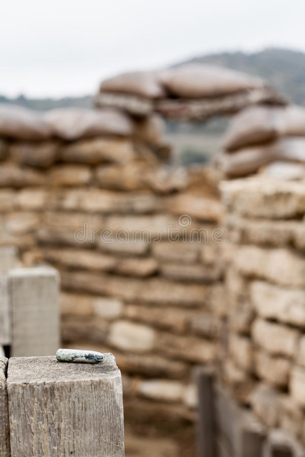 Download Old Bullet In A Defensive Fighting Position Stock Image - Image: 27277315
