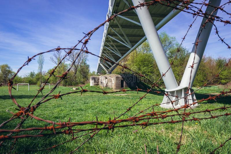 Freedom Cycling Bridge royalty free stock photography