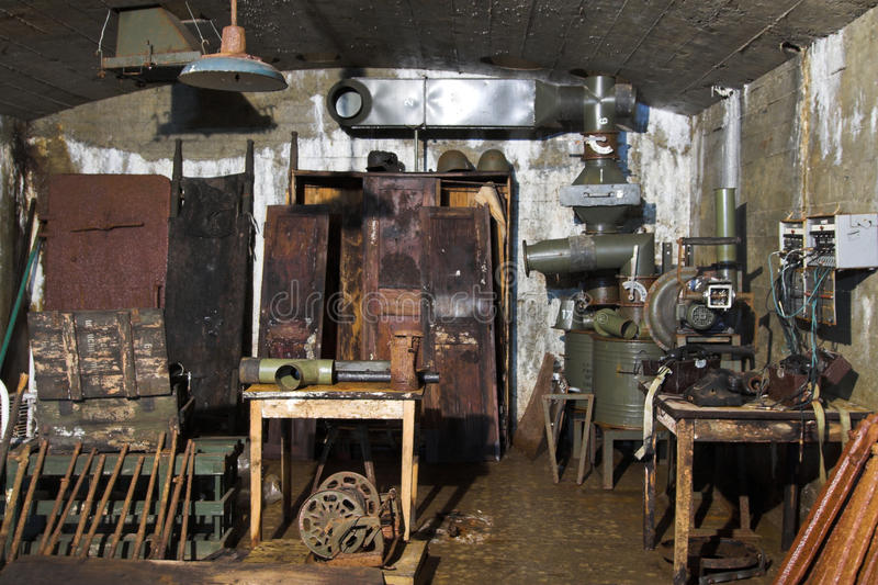 Old bunker from ii world war royalty free stock photography