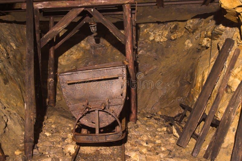 Old bunker from ii world war - Wlodarz. Inside Old bunker from ii world war - Wlodarz - poland (undeground factory of rocket V2 royalty free stock photos