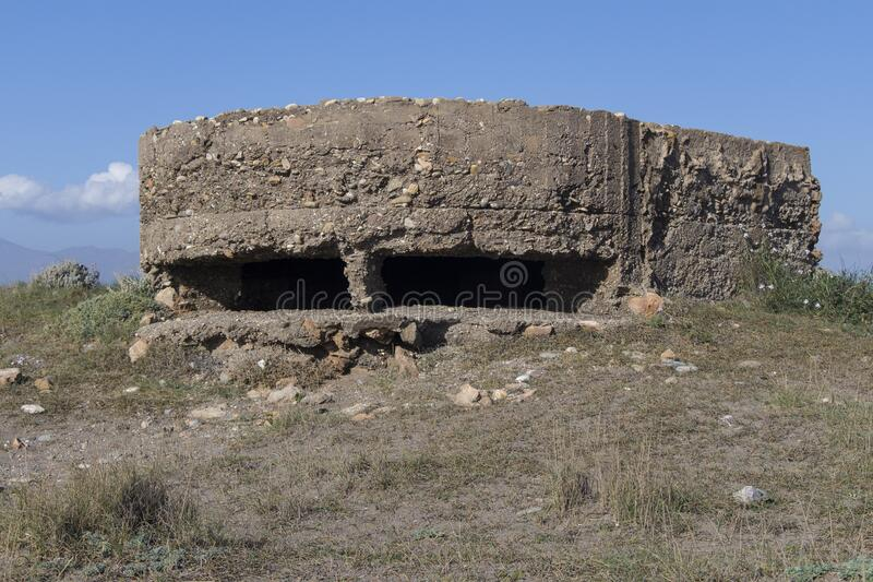 Old bunker of the spanish civil war royalty free stock photography