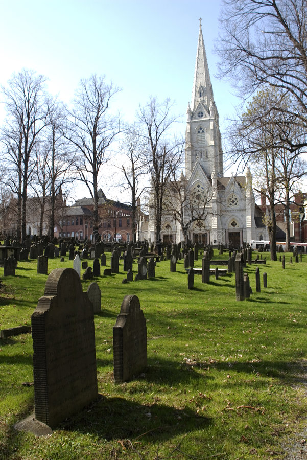 Old burial ground in downtown Halifax royalty free stock images