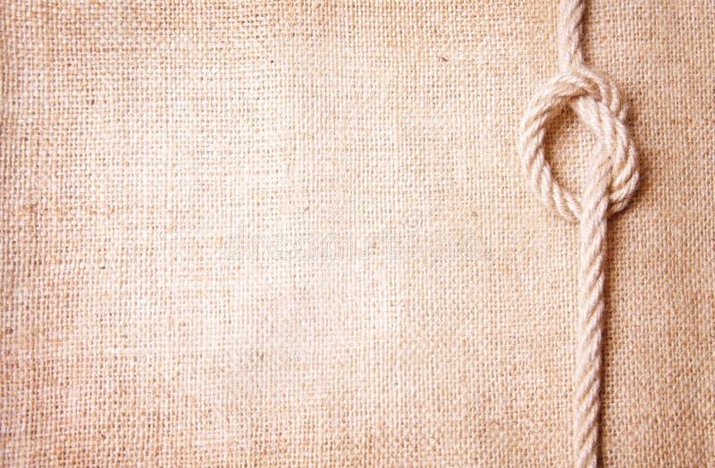 Old burlap and knot stock photos