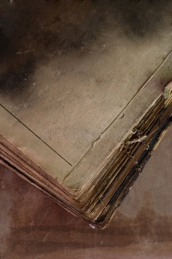 Old burnt book royalty free stock photos