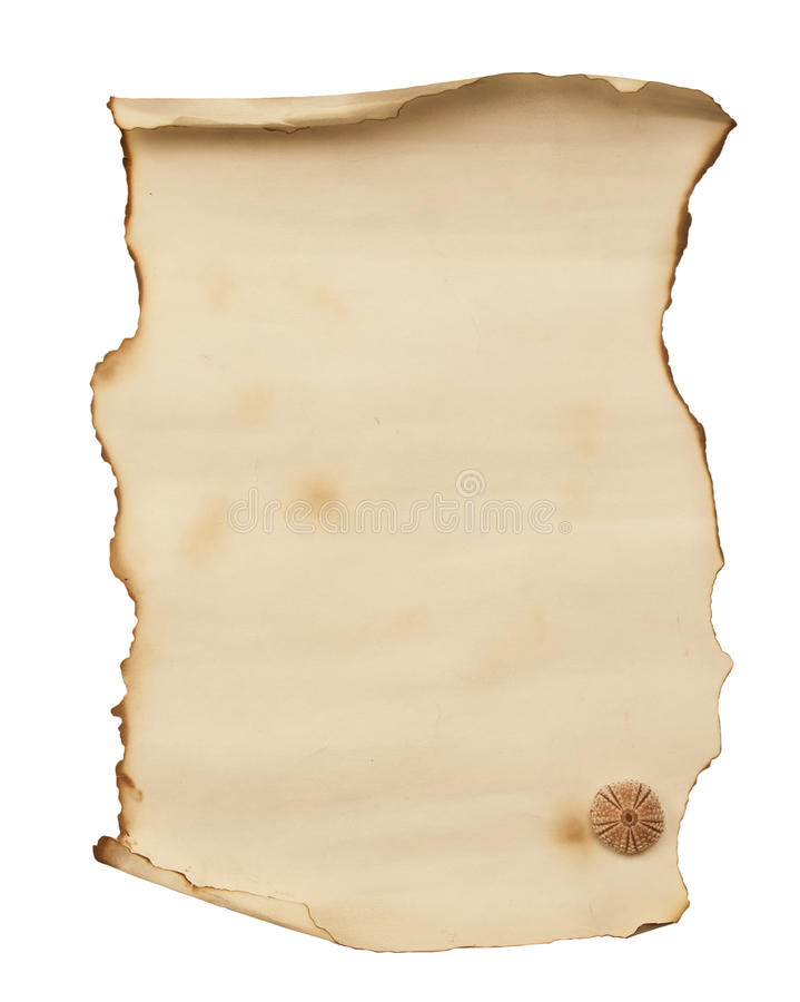 Download Old Burnt Paper List Stock Photos - Image: 27428563