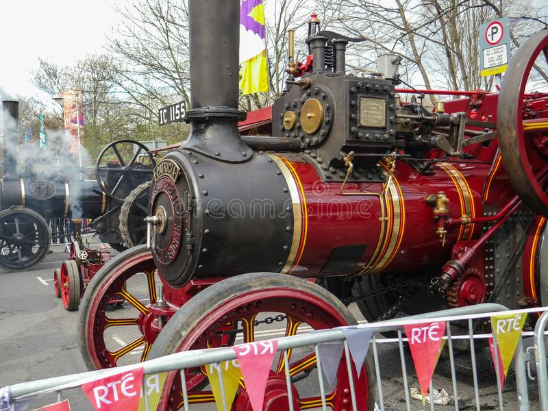Old 1917 Burrell Steam Traction Engine Detail royalty free stock images