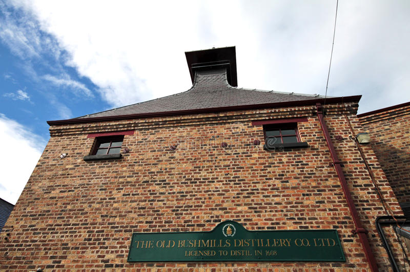 Old Bushmills Distillery, Northern Ireland. Old Bushmills Distillery factory, Northern Ireland royalty free stock photo