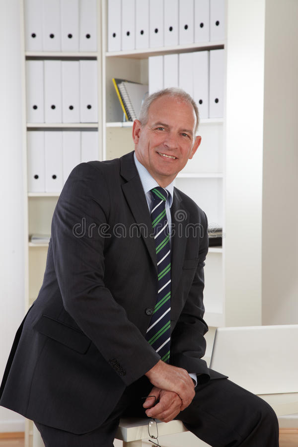 Download Old Business man in office stock image. Image of handsome - 19478523