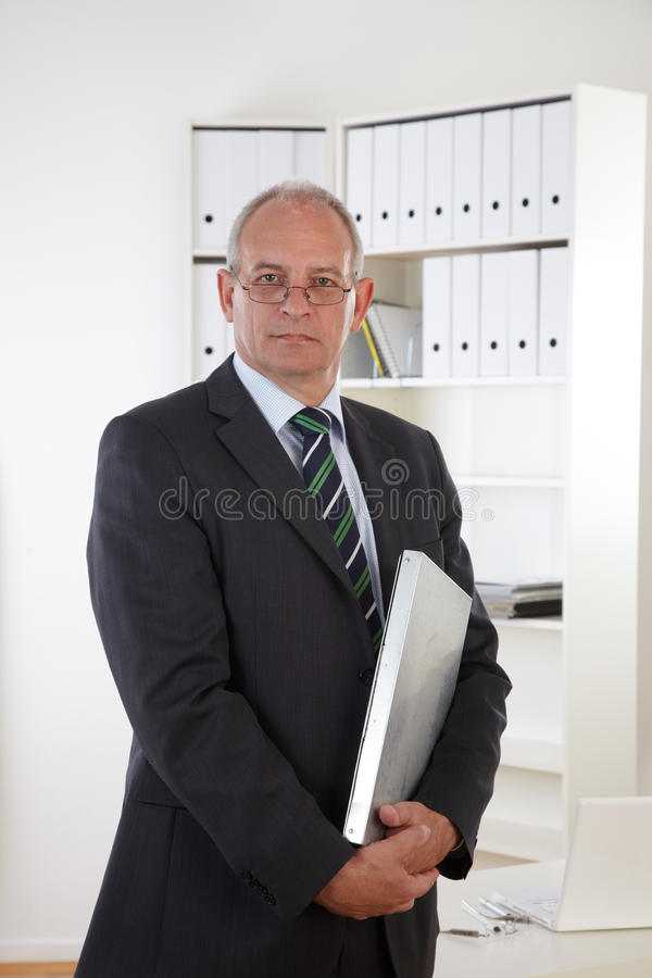 Free Old Business Man With Clipboard Stock Image - 19478671