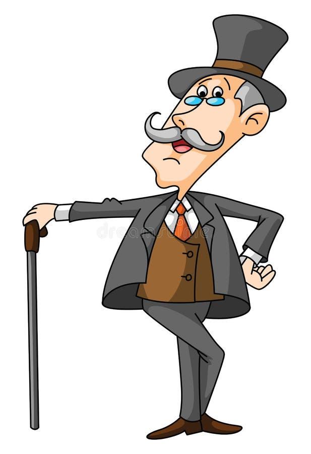 Old Businessman. Illustrator design .eps 10 stock illustration