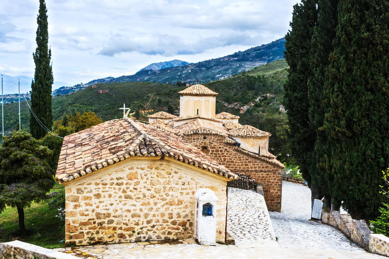 Old Byzantine Church at Greece royalty free stock photo