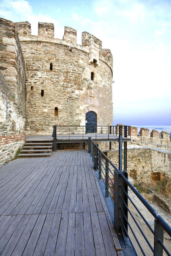 Old byzantine tower royalty free stock photos