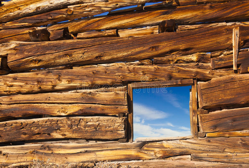 Download Old Cabin Window stock image. Image of outdoors, abstract - 28373397