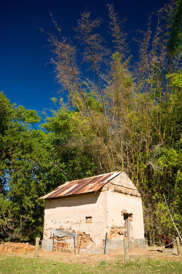 Old cabin in the woods royalty free stock photography