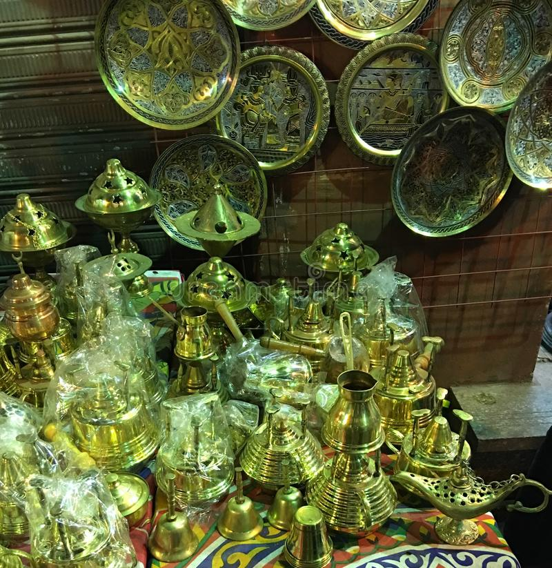 Old Cairo Antiquities 2. Old Cairo is a part of Cairo, Egypt which pre-dates the Fatimid city of Cairo, founded in 969 CE. Old Cairo contains the remnants of royalty free stock photo