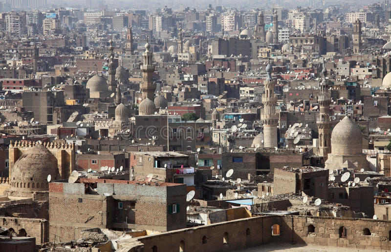 Old Cairo view, Egypt. Old Cairo view from Citadel, Egypt stock image