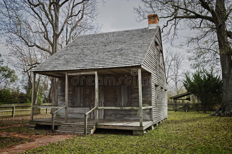 Old Cajun Home in Park royalty free stock image