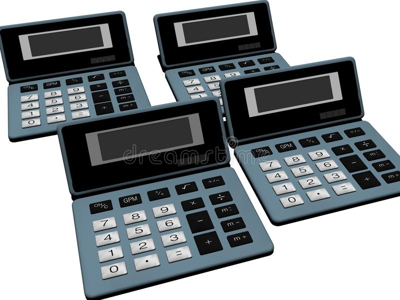 Old calculators stock photos