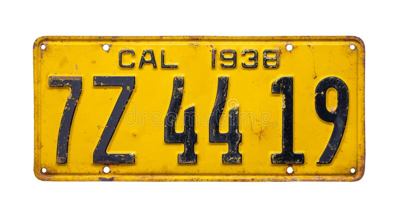 Classic Cutout Style Number Plate Old Town