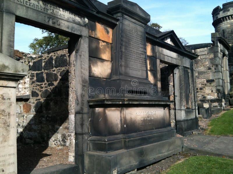 Old Calton Burial Ground, Edinburgh stock photography