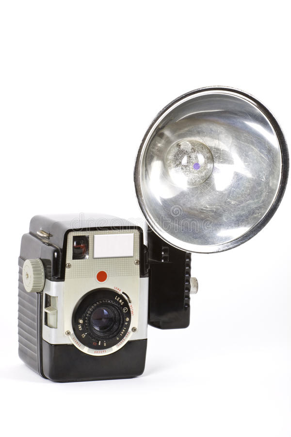 Download Old camera. stock image. Image of isolation, light, fifties - 11438087