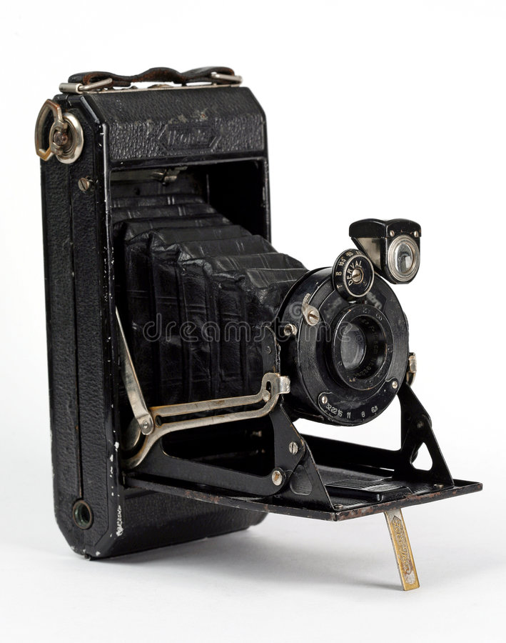 Old Camera. Old, camera, antiques, photography, lens, retro royalty free stock photos