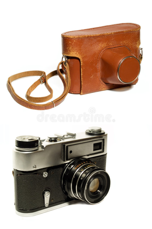 Free Old Camera And Case Stock Photos - 1957723