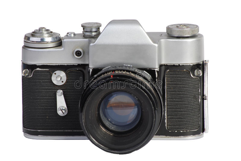 Download Old camera device stock photo. Image of camera, silvery - 10824266
