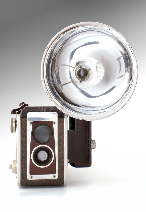 Old Camera With Flash Royalty Free Stock Image