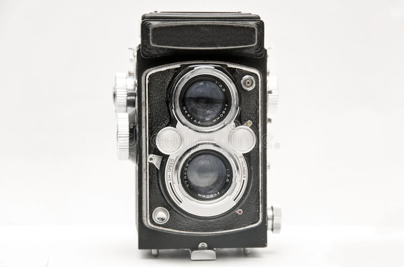 Old camera. The old medium format camera royalty free stock photo