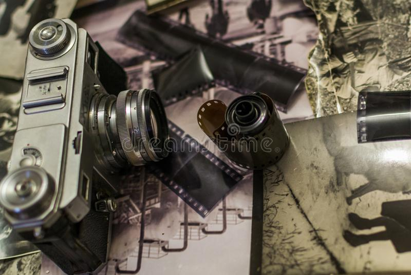 Old camera and old film stock images