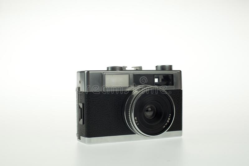 Old Camera of photography. This is an old photography camera on a white background stock image