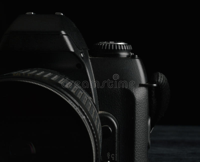 Old camera reflex 35mm royalty free stock photo