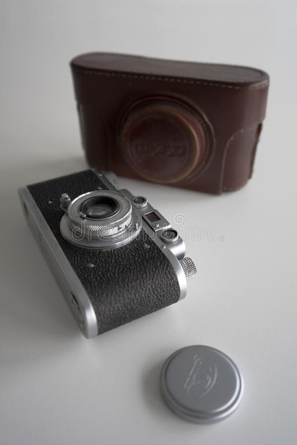 The old camera of the twentieth century royalty free stock photography