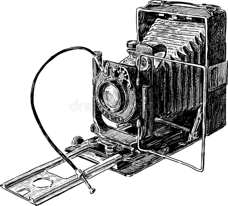 Old camera stock image image of hand photographing for Camere dwg