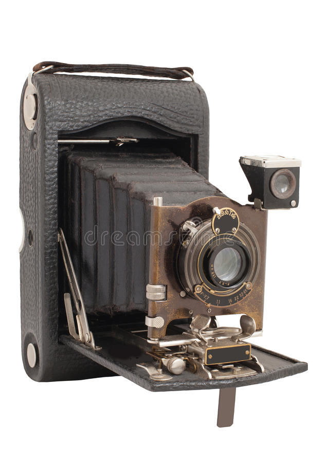 Download Old Camera Vintage Isolated On A White Background Stock Image - Image: 48410131