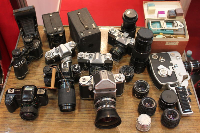Download Old cameras editorial photography. Image of background - 27988222