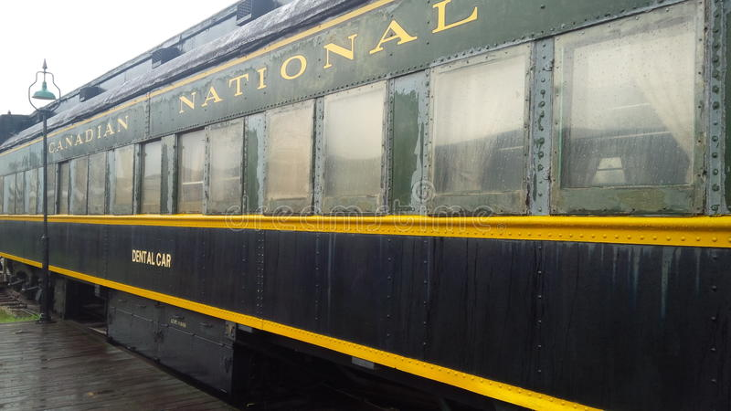 Old Canadian National (CN) Dental Train Car royalty free stock images