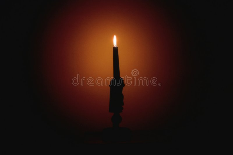 Download Old candlestick stock photo. Image of wick, blaze, candle - 666656