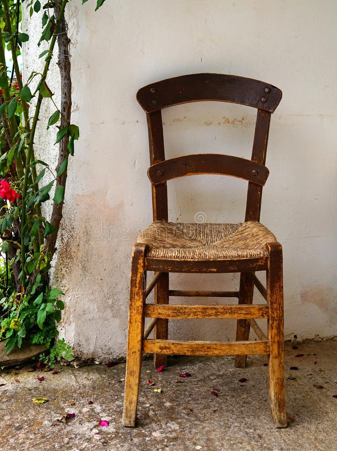 Download Old Cane Seat Chair Stock Photo. Image Of Made, Woven   73190872
