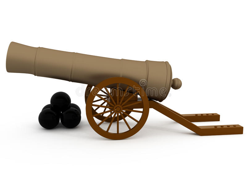 Download Old Cannon stock illustration. Image of armed, exploding - 18485584