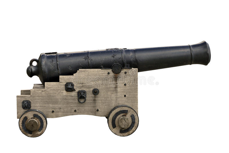 Old cannon - isolated stock photo