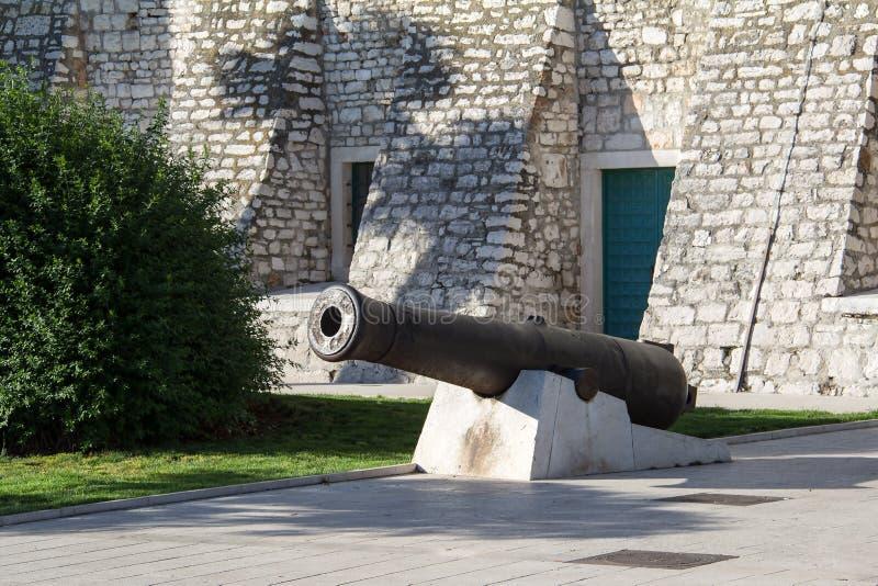 Оld cannons. Old cannons in Sibenik (Croatia stock image